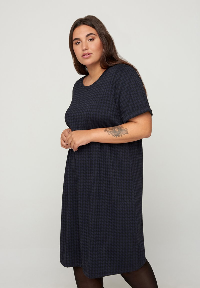 Zizzi - Jumper dress - blue