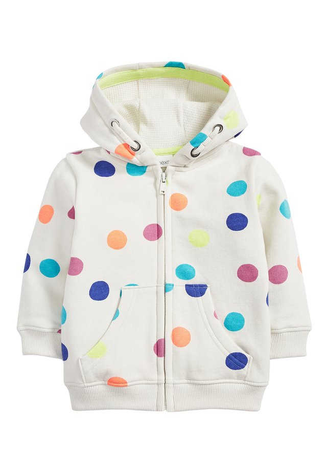 LILAC UNICORN ZIP THROUGH HOODY (3MTHS-7YRS) - Zip-up hoodie - white