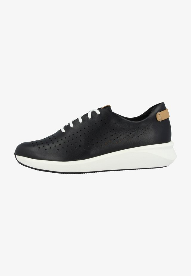 UN RIO TIE - Sneakers laag - black leather