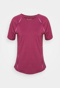 Under Armour - RUSH SCALLOP  - T-shirt con stampa - pink quartz - 5