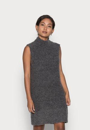 PCFREE O-NECK DRESS - Jumper dress - dark grey melange
