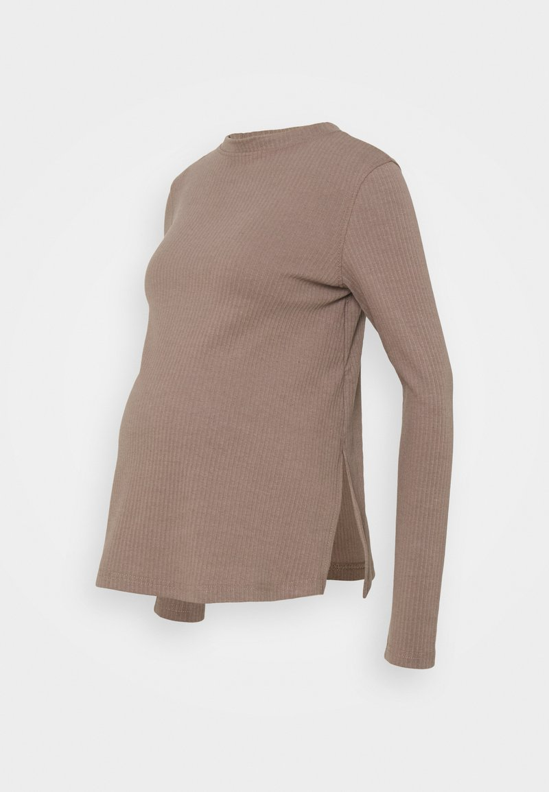 Missguided Maternity - LONG SLEEVE  - Long sleeved top - brown