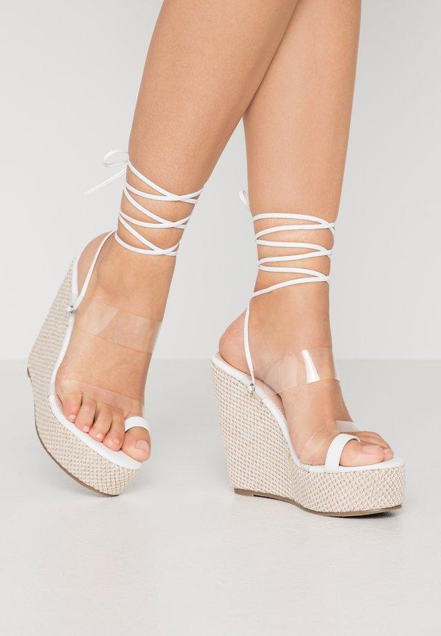 PERSIA - Sandales à talons hauts - clear/white