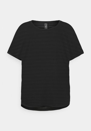 ONPANUR LOOSE SLIT TRAIN TEE  - Camiseta estampada - black