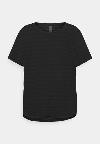 ONPANUR LOOSE SLIT TRAIN TEE  - T-shirts med print - black