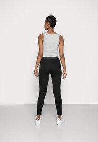 Esprit - PUNTO PANT - Leggings - Trousers - black - 2