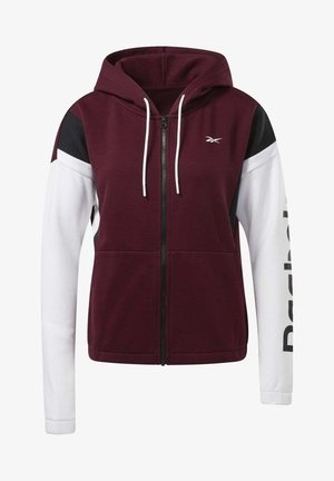 TRAINING ESSENTIALS LOGO HOODIE - Zip-up hoodie - burgundy