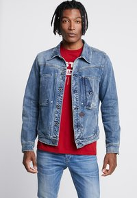 G-Star - SCUTAR SLIM - Denim jacket - worn in aged - 0