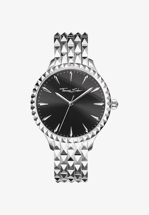 REBEL AT HEART  - Montre - silver-coloured, black