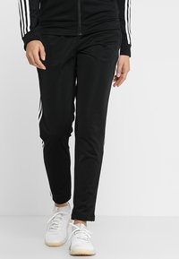 adidas Performance - ESSENTIALS 3STRIPES SPORT TRACKSUIT - Tracksuit - black/white - 3