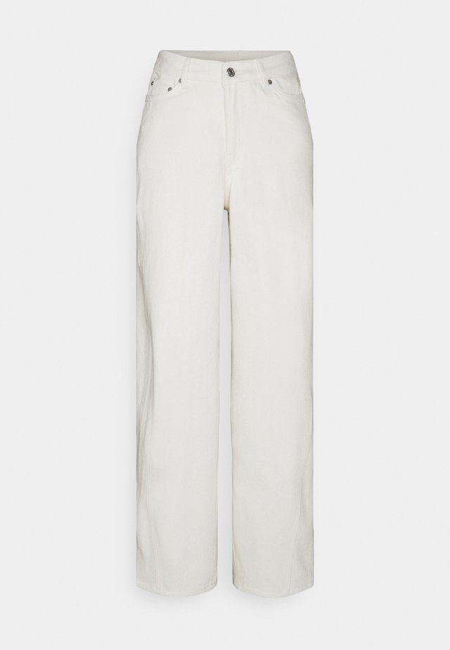LARA WAIST TROUSERS - Relaxed fit jeans - white