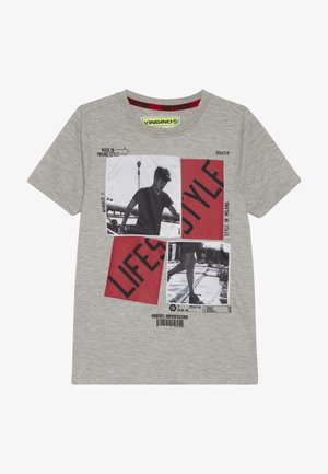 HEFFIE - Print T-shirt - light grey