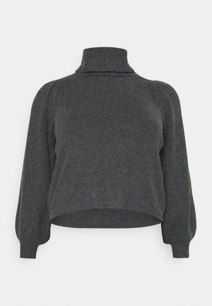 PCSALSA ROLL NECK  - Strikkegenser - dark grey melange