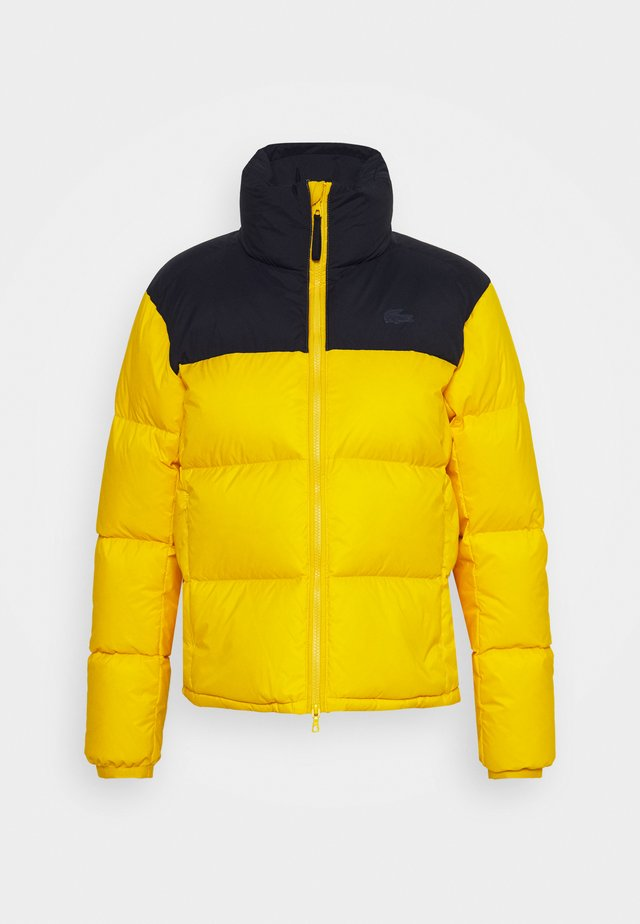 COLOR BLOCK PUFFER - Down jacket - wasp/navy blue