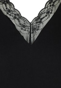 Zizzi - WITH A V-NECK AND LACE TRIM - Blouse - black - 4