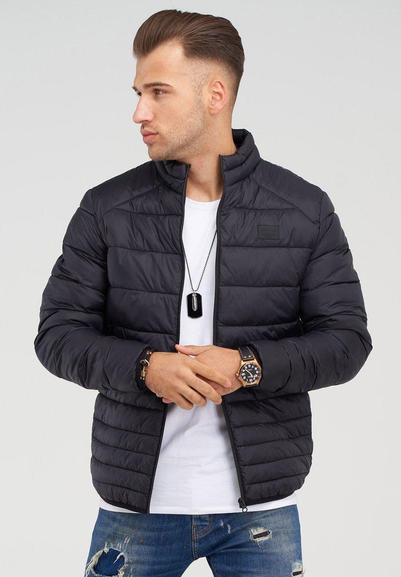 Jack & Jones - MIT STEHKRAGEN - Light jacket - black