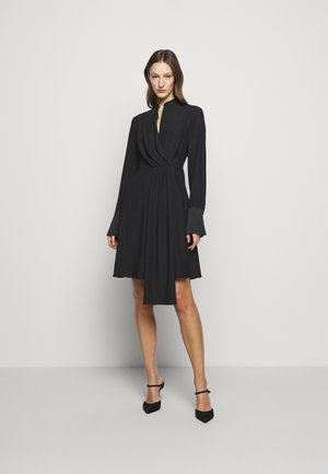 DRAPED FLUID CADY MINI DRESS - Vestido informal - black