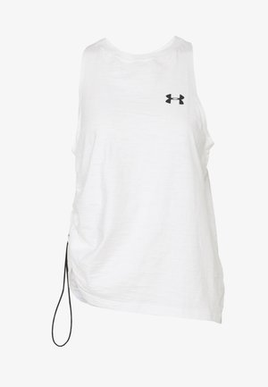 CHARGED TANK - Sports shirt - onyx white/black