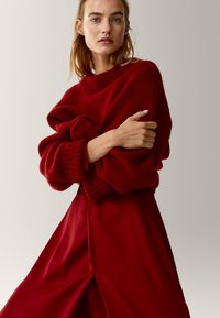 Massimo Dutti - Korte jurk - red - 2