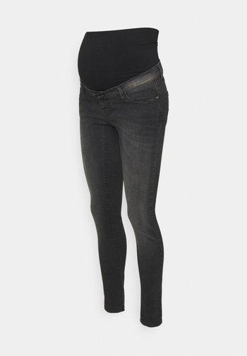 SKINNY AGED GREY - Skinny džíny - washed black