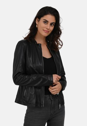 PRESTIGE - Leather jacket - black