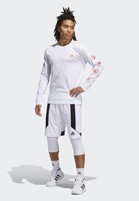 adidas Performance - LIL STRIPE CANNONBALL T-SHIRT - Long sleeved top - white - 1