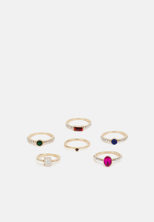 ONLANJA FINGERRINGS 6 PACK - Sormus - gold-coloured/multicolour