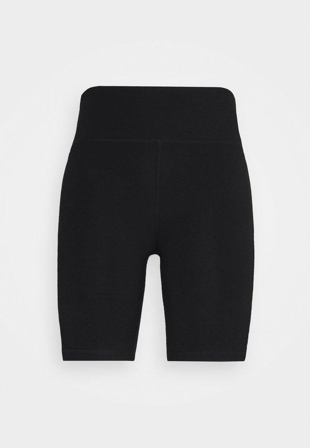 LOGO TAPE HIGH WAIST BIKE SHORT - Collants - black