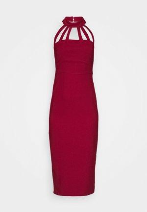 Sukienka koktajlowa - burgundy