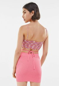 Bershka - Pencil skirt - pink - 2
