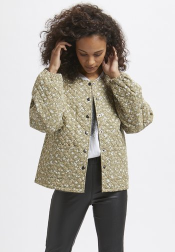 Light jacket - multi green flower