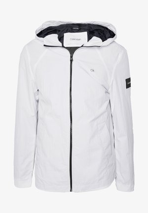 CRINKLE HOODED WINDCHEATER - Summer jacket - white
