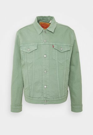 THE TRUCKER JACKET - Farkkutakki - greens