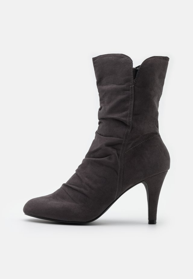 ROMY - High heeled ankle boots - grey