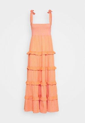 MINA - Robe longue - tangerine