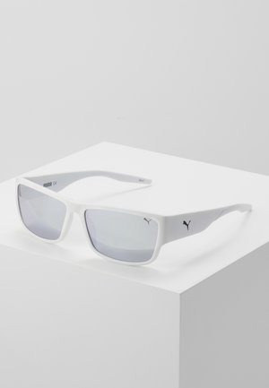 Sunglasses - white/white/silver
