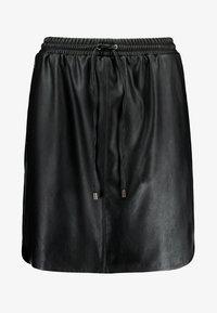 SKIRT ABOVE KNEE - Mini skirt - black