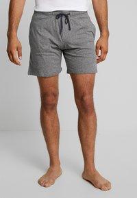 Schiesser - SLEEPWEAR TROUSERS SHORTS  - Pyjama bottoms - mottled dark grey - 0