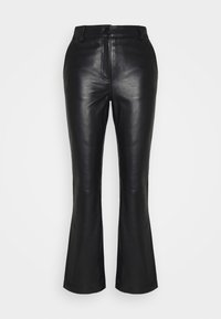 STUDIO ID - AMBER  - Leather trousers - black - 4