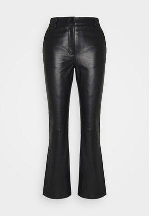 AMBER  - Kožené kalhoty - black
