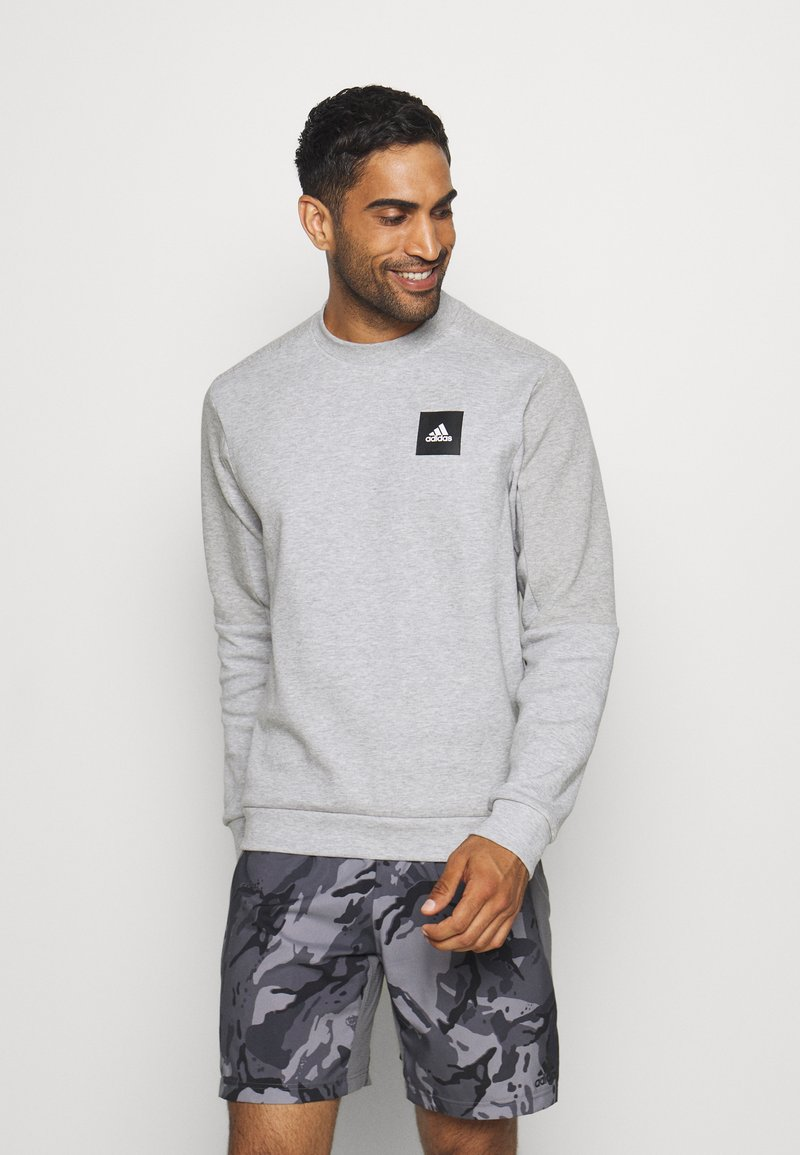 adidas Performance - CREW - Sweatshirt - mottled grey