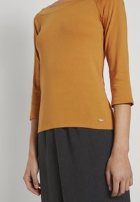 TOM TAILOR DENIM - CARMEN - Long sleeved top - orange yellow - 4