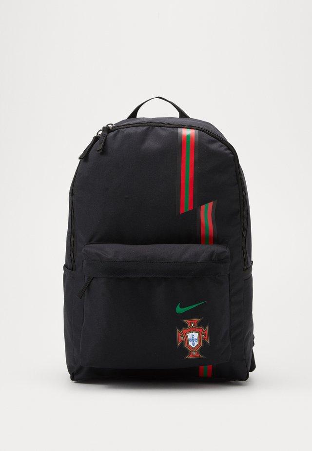 PORTUGAL STADIUM - Rucksack - black/gym red/metallic gold