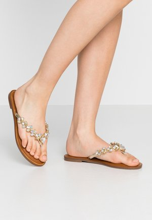 JENNA - T-bar sandals - gold