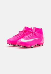 Nike Performance - JR MERCURIAL 7 ACADEMY MG MBAPPÉ - Moulded stud football boots - pink blast/white/black - 1