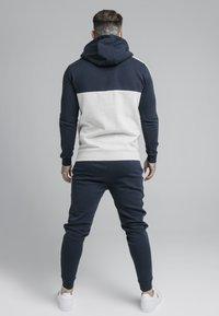 SIKSILK - CUT AND SEW BORG ZIPTHROUGH HOODIE - Zip-up hoodie - navy/snow - 2