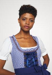 ONLY - ONLLOLA LACE UP DIRNDL DRESS SET - Dirndl - cloud dancer/blue - 3