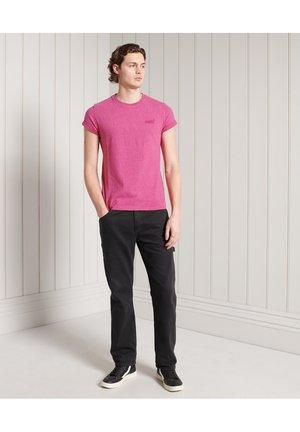 VINTAGE  - Basic T-shirt - magenta marl