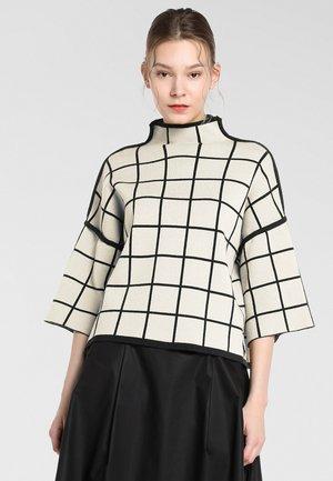 Pullover - beige-black