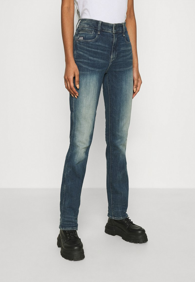 G-Star - NOXER STRAIGHT - Straight leg jeans - antic faded baum blue
